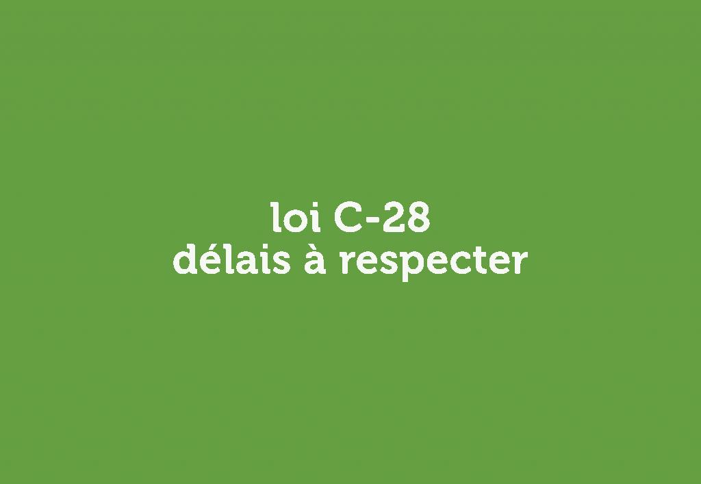 loi c28 délais à respecter