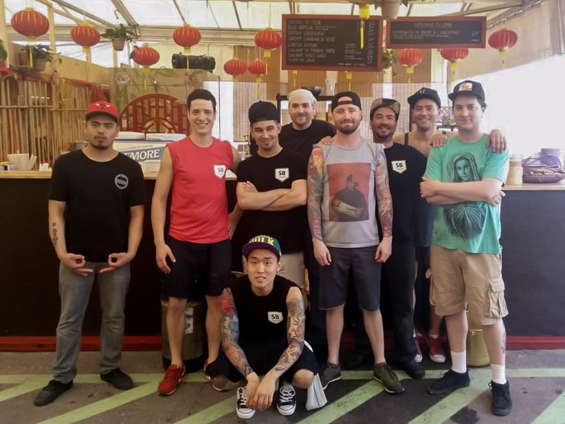 The wonderful team at Satay Brothers