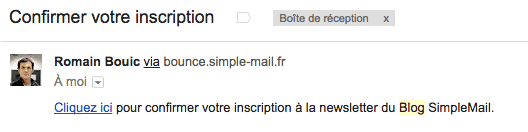 double opt-in emailing email de confirmation