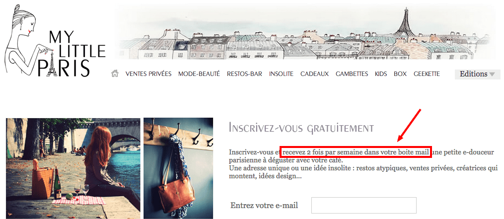 My Little Paris Newsletter frequence d'envoi