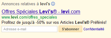 adwords newsletter extension annonce