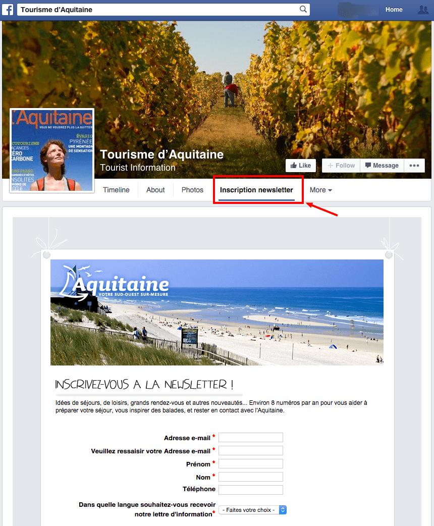 newsletter page facebook