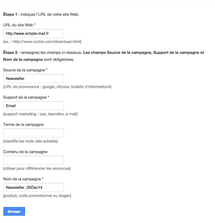 comment créer une url google analytics