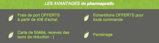 """Capture d'écran """"Les avantages de PharmaPratic"""""""