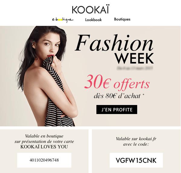 fashion week kookai