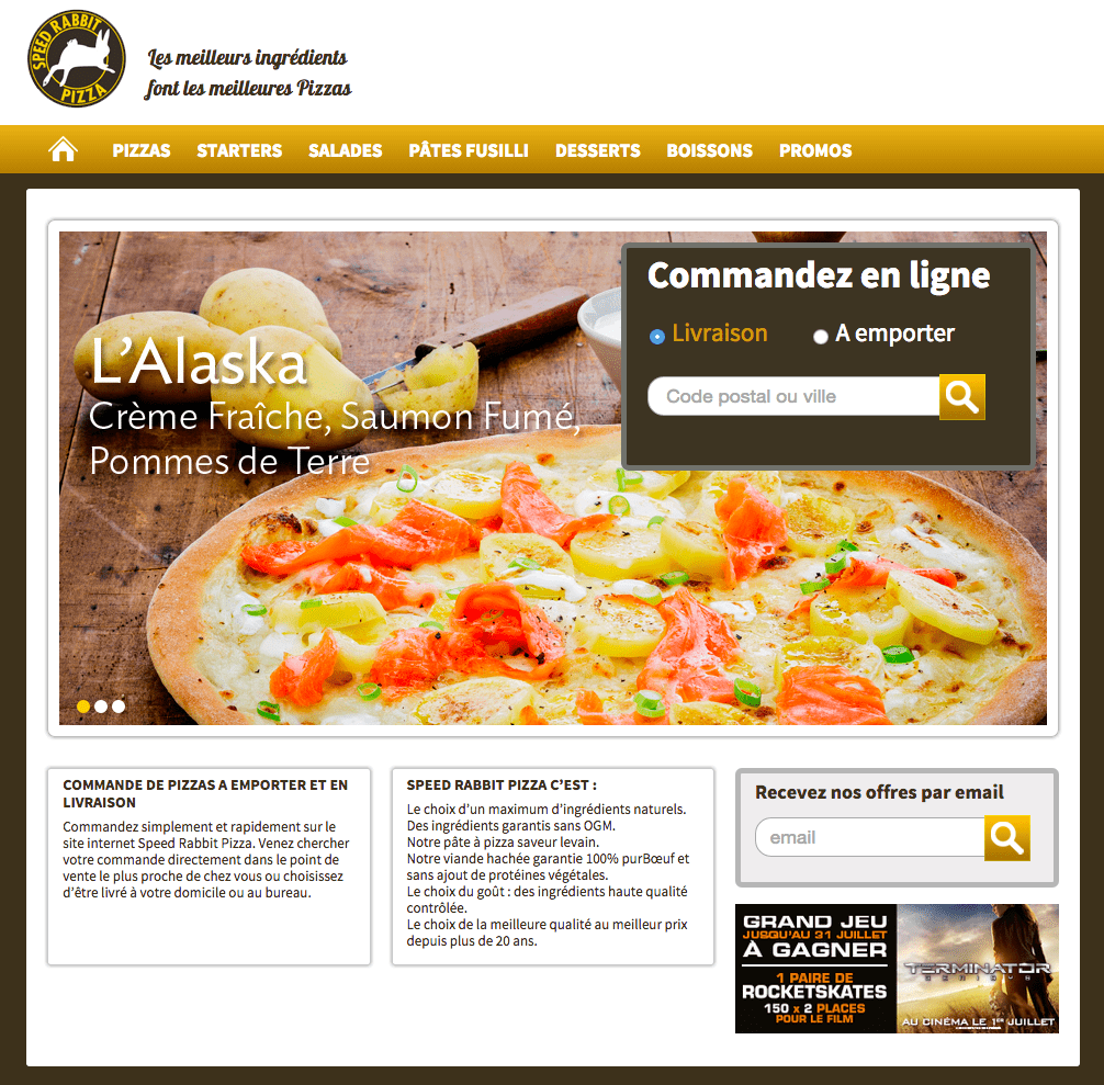 Web formulaire SimpleMail - Speed Rabbit Pizza