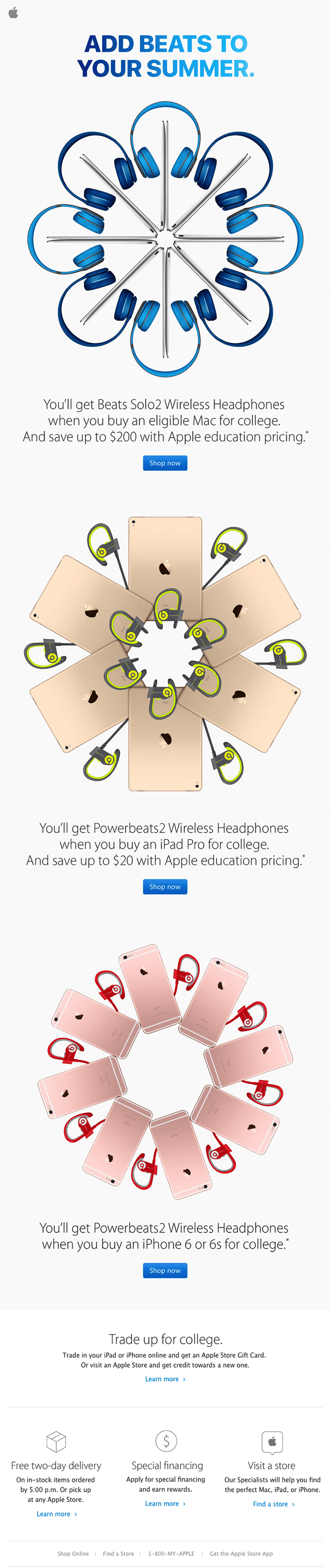 Great ecommerce email content by Apple Store