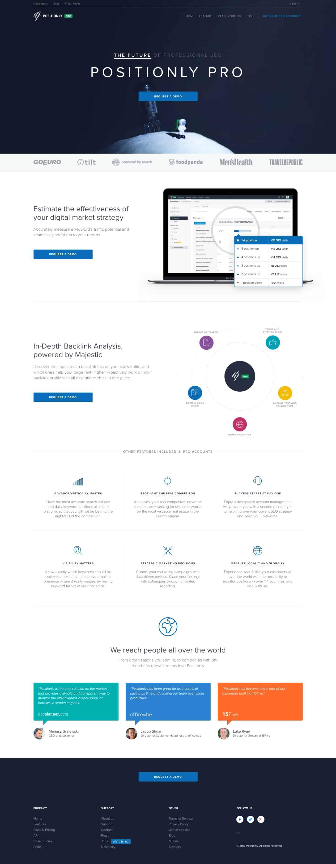 Landing page best practice example