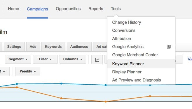 How to find Keyword Planner
