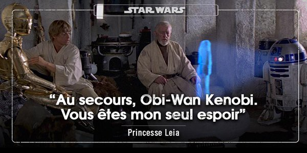Au secours, Obi-Wan Kenobi. De la page FB Star Wars France