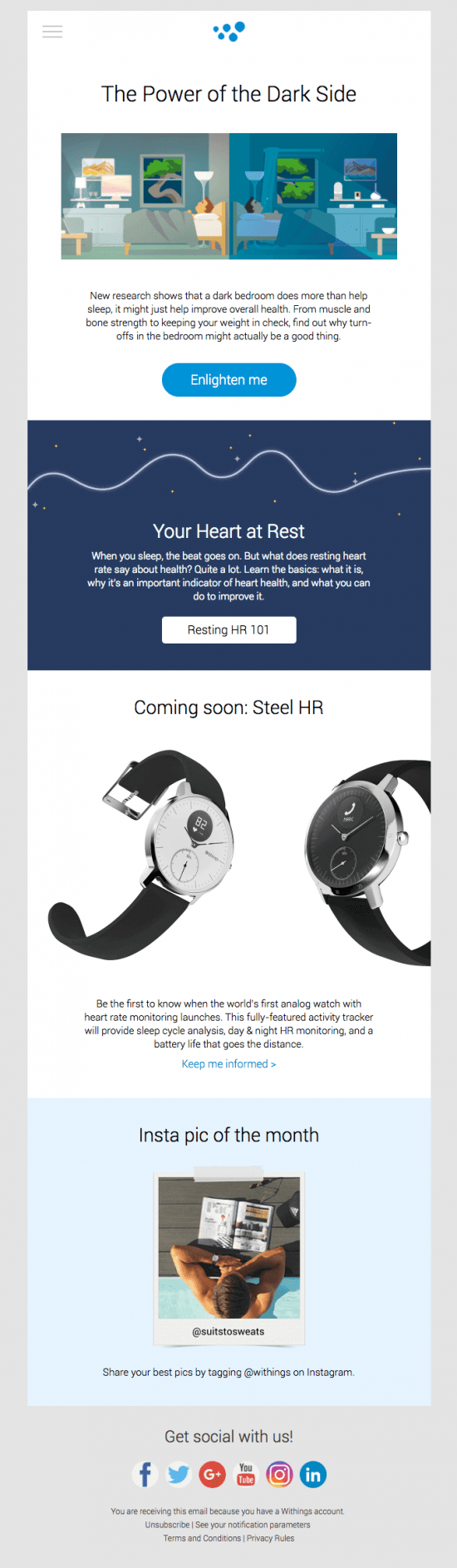 Great email creative by Withings