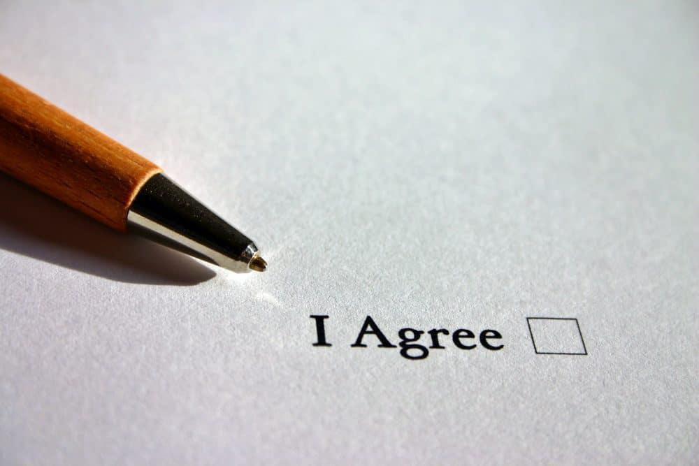 agreement check box