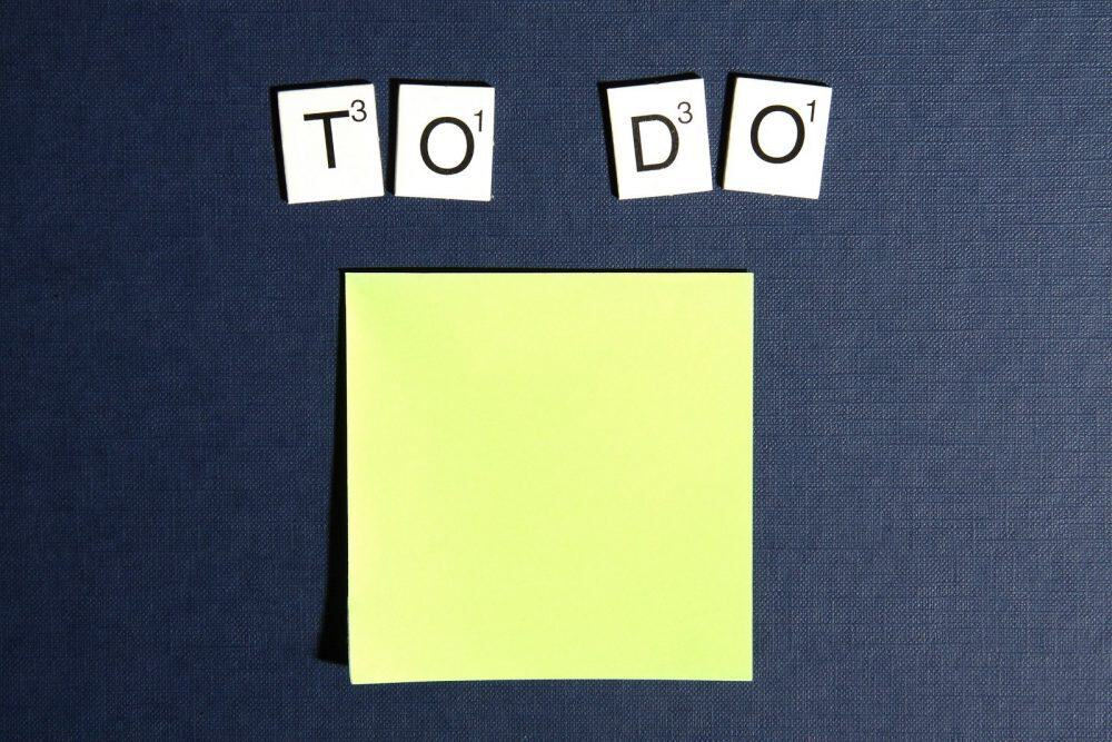 To Do + post it