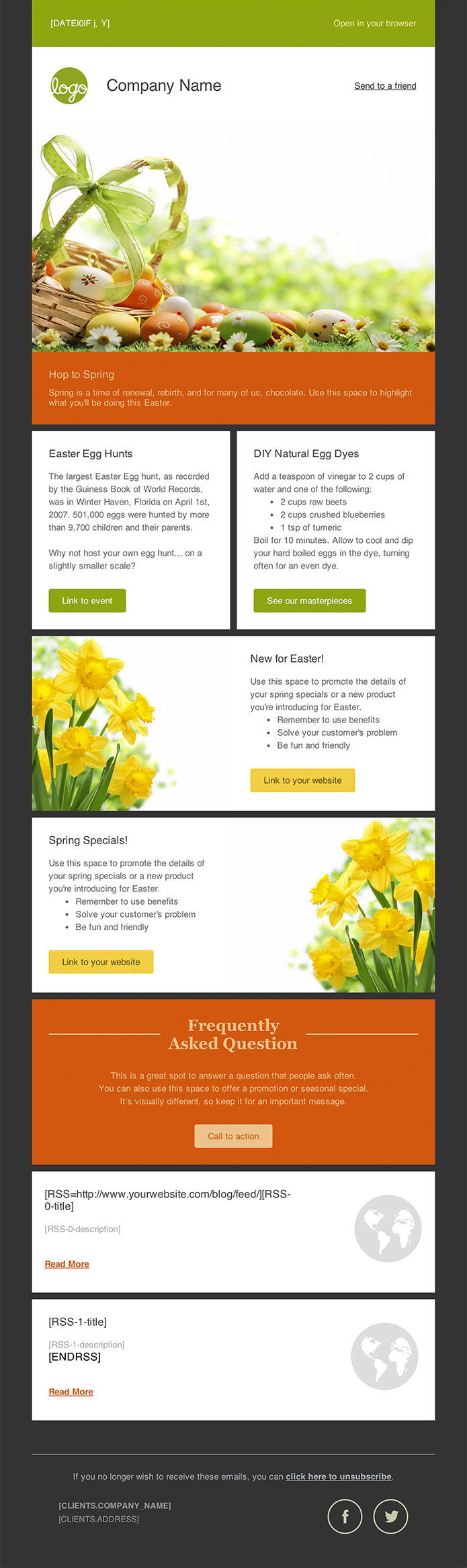 seasonal newsletter free email templates cakemail