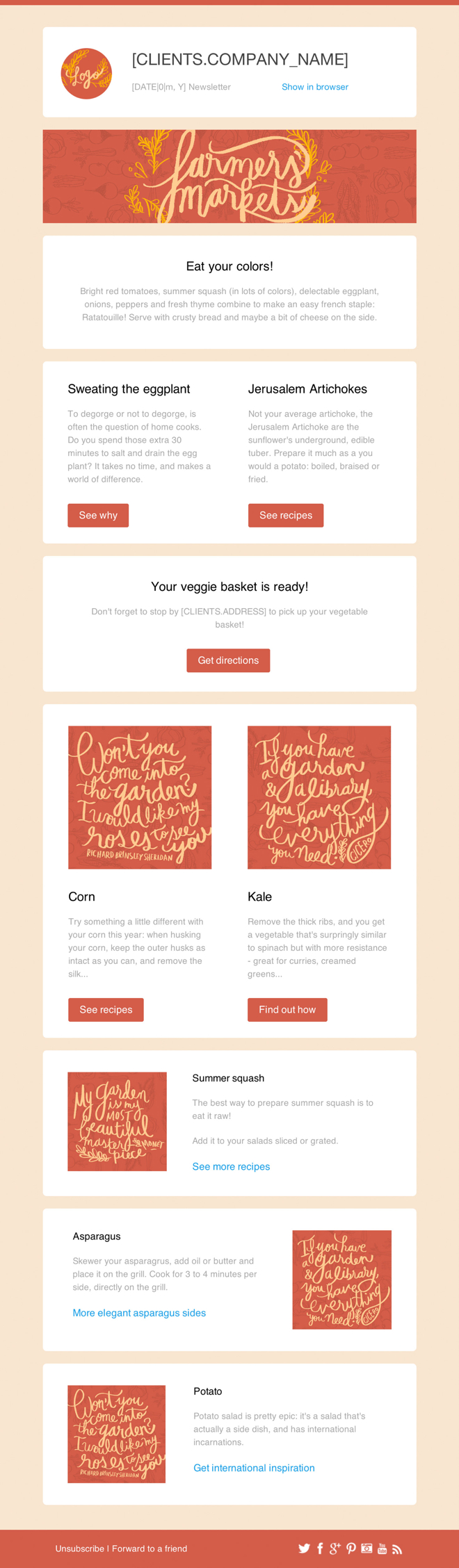 Newsletter Templates Free | Business Newsletter Free Email Templates Cakemail