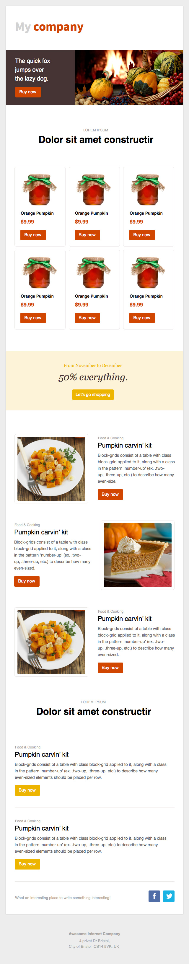 thanksgiving brown_orange email eemplate
