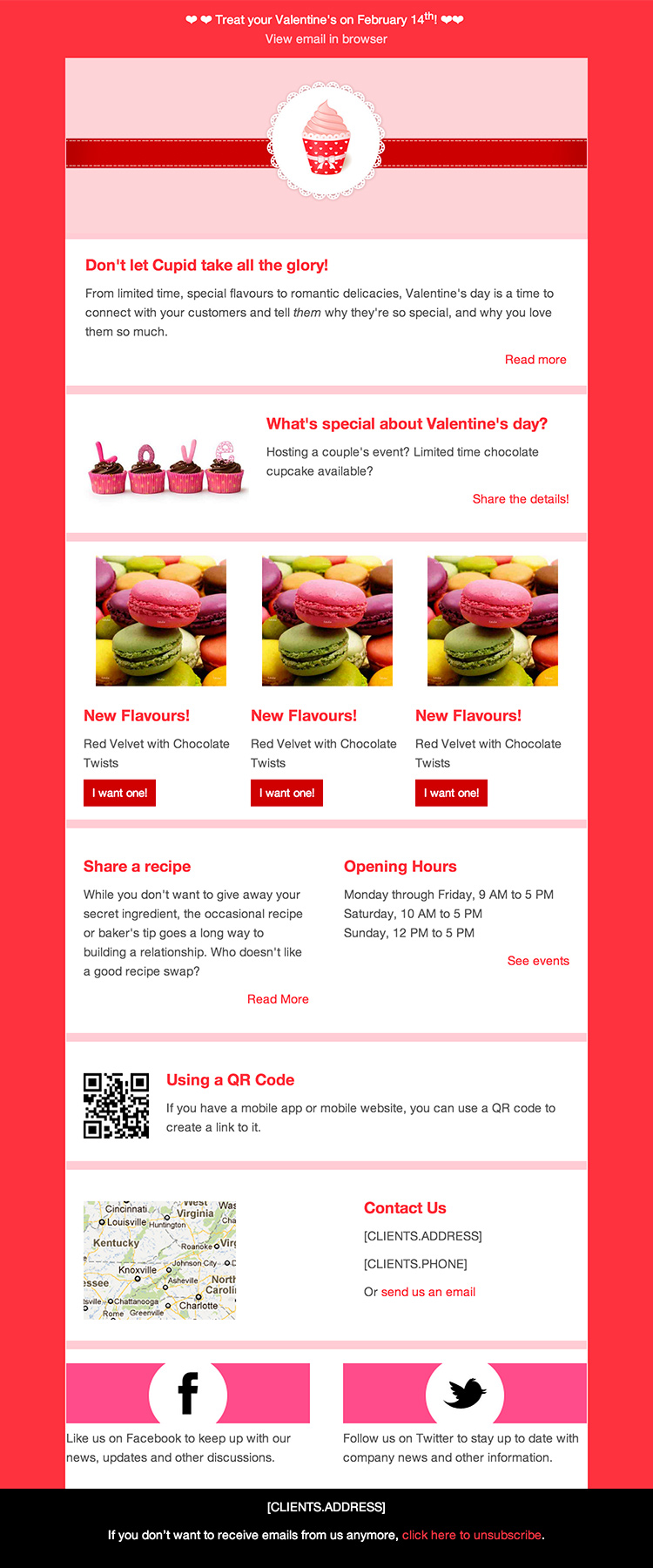 valentines pink email eemplate